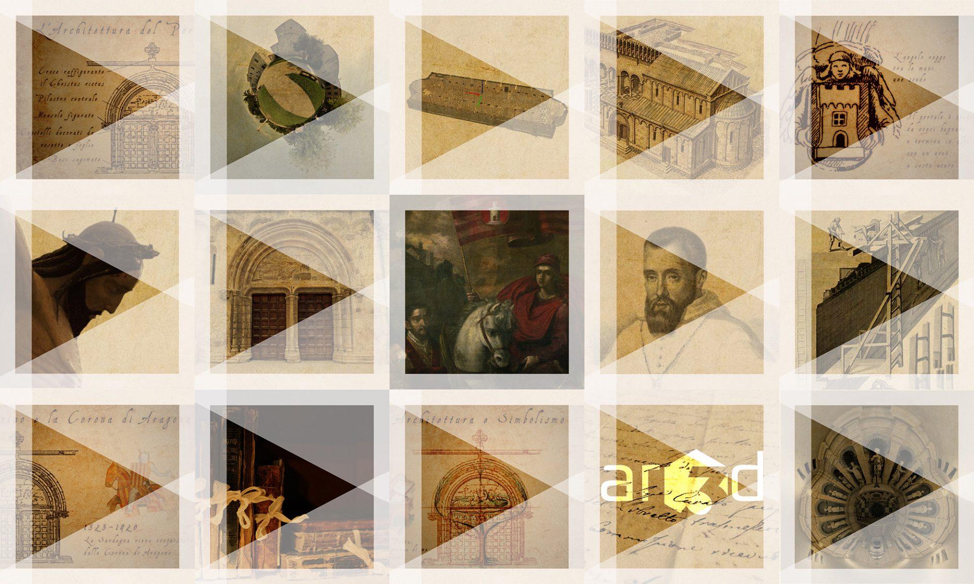 immagini di alcune sezioni costituenti la piattaforma multimediale della Basilica
