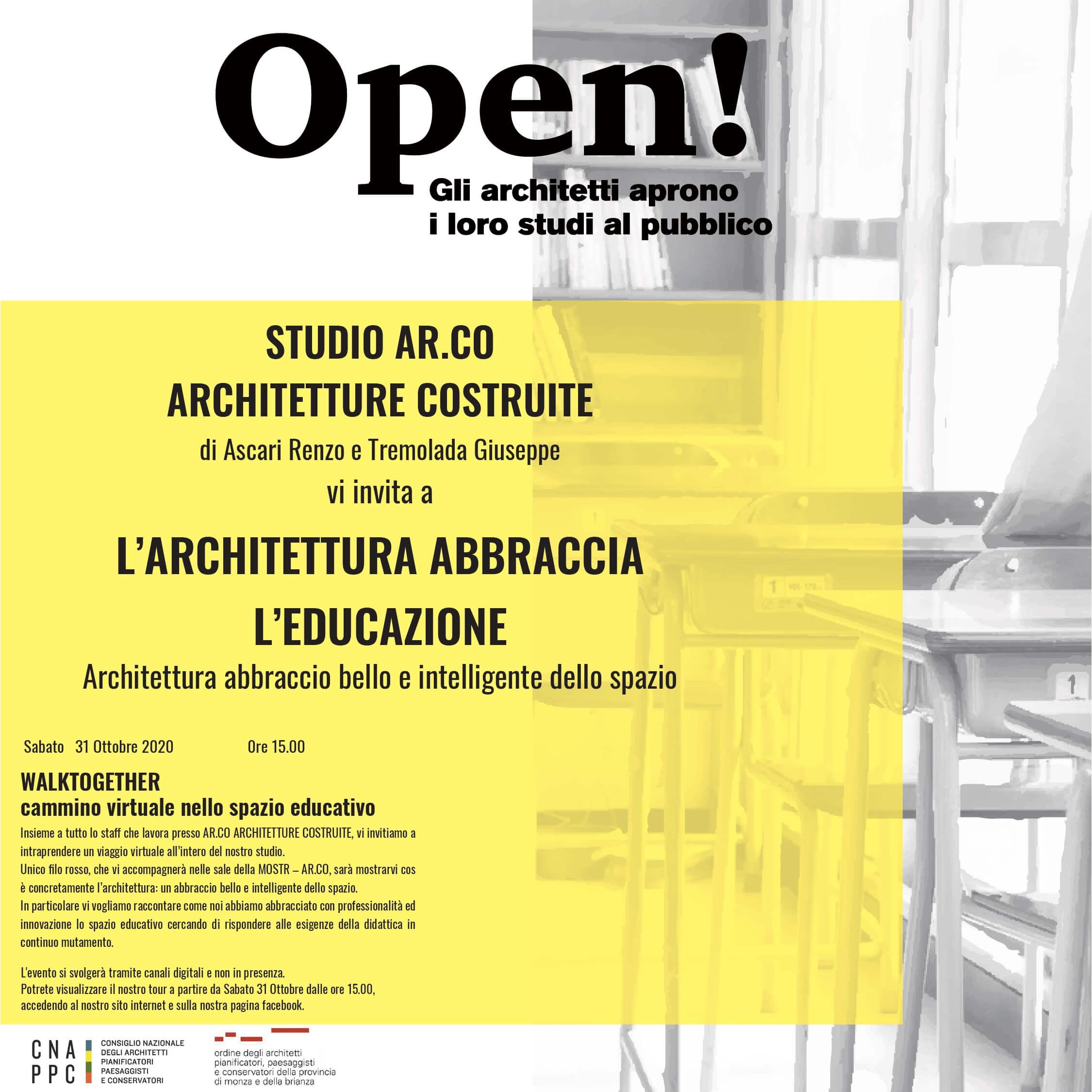 Volantono evento StudiAperti - studio AR.CO ARCHITETTURE COSTRUITE