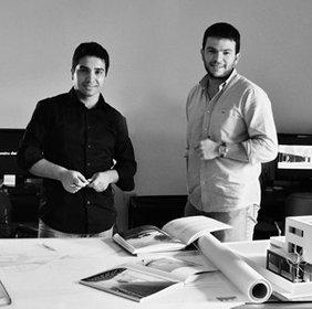 Immagine in bianco e nero dei titolari dello studio
